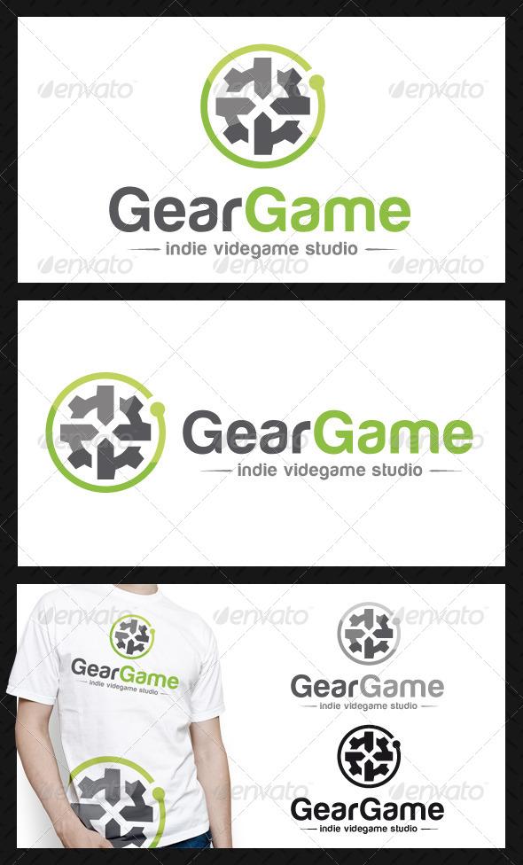 Game Gear Logo Template - Vector Abstract