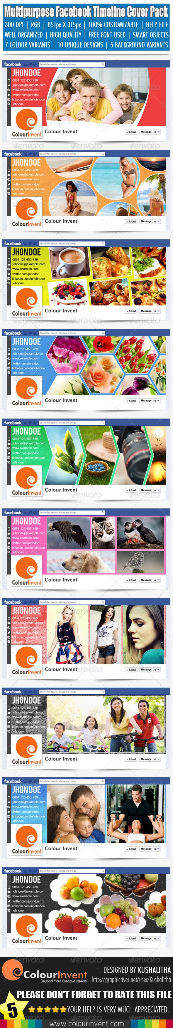 Multipurpose Facebook Timeline Cover Pack - Facebook Timeline Covers Social Media