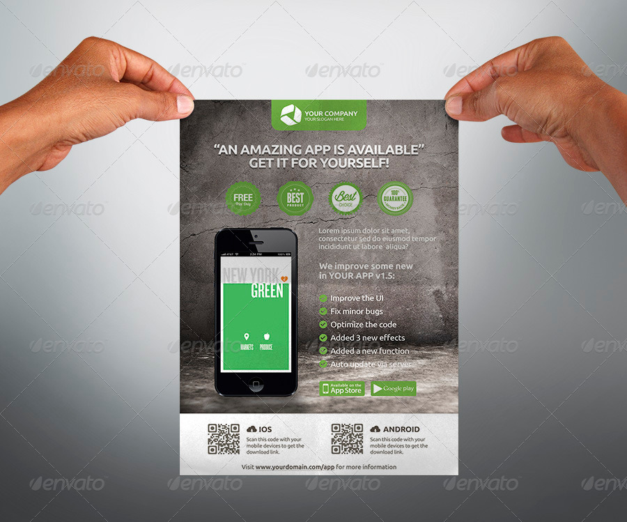 mobile app promotion flyers by hoanggiang12 graphicriver