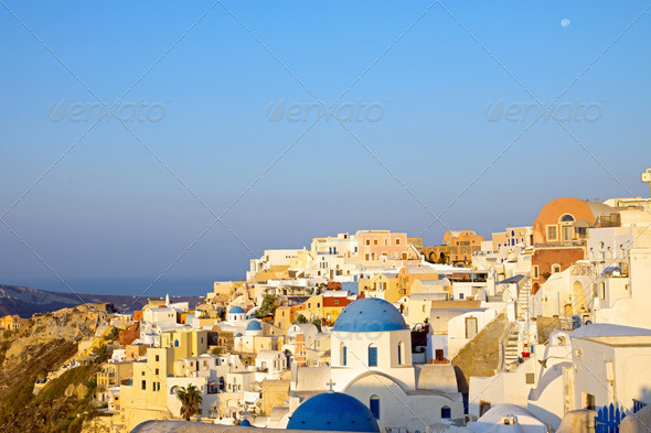 Oia in the morning - Stock Photo - Images