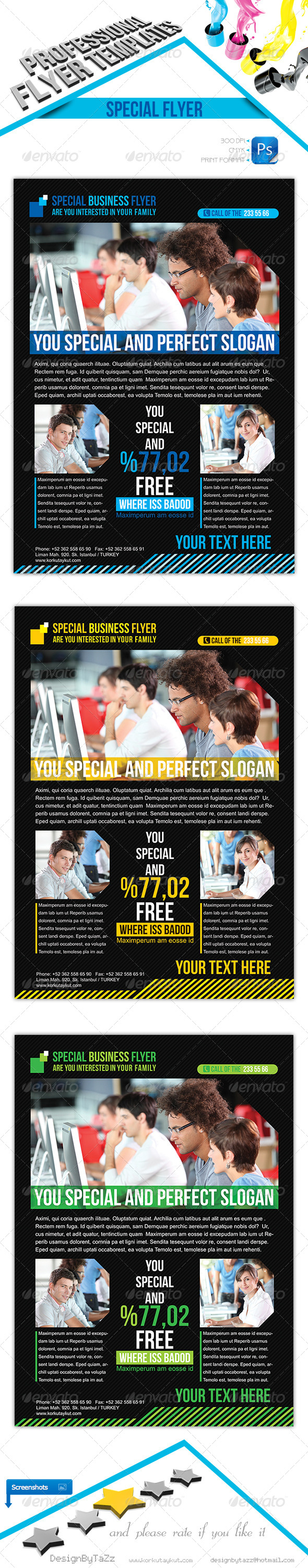 Special Business Flyer Template - Corporate Flyers