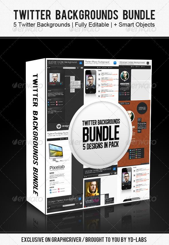 Twitter Backgrounds Bundle 3 - Twitter Social Media