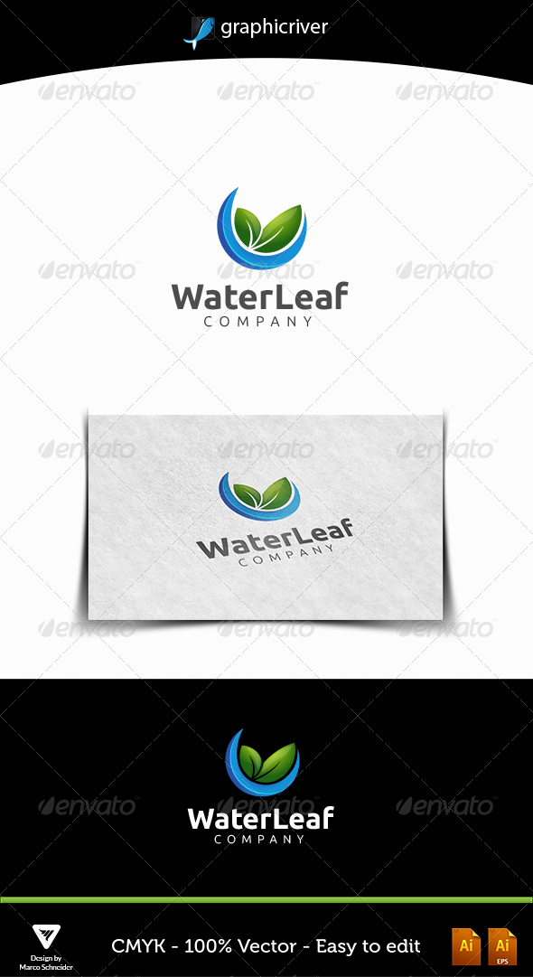 Waterleaf - Nature Logo Templates