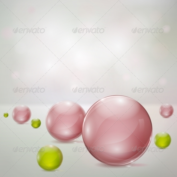 Abstract Background With Glass Spheres - Backgrounds Decorative
