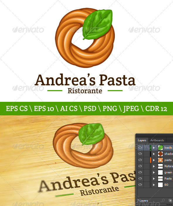 Pasta Logo - Food Logo Templates