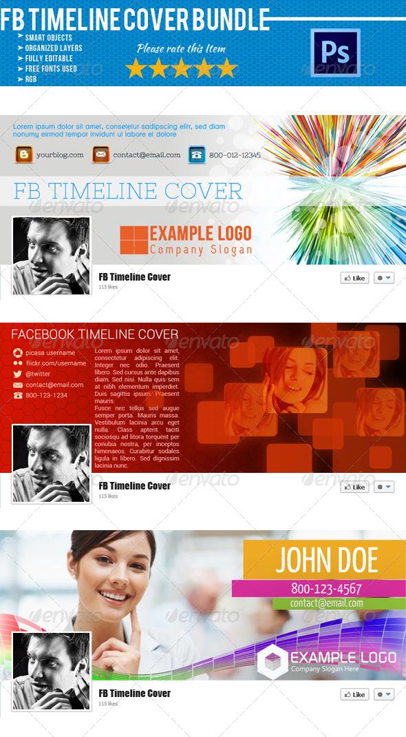 Facebook Timeline Cover Bundle 03 - Facebook Timeline Covers Social Media