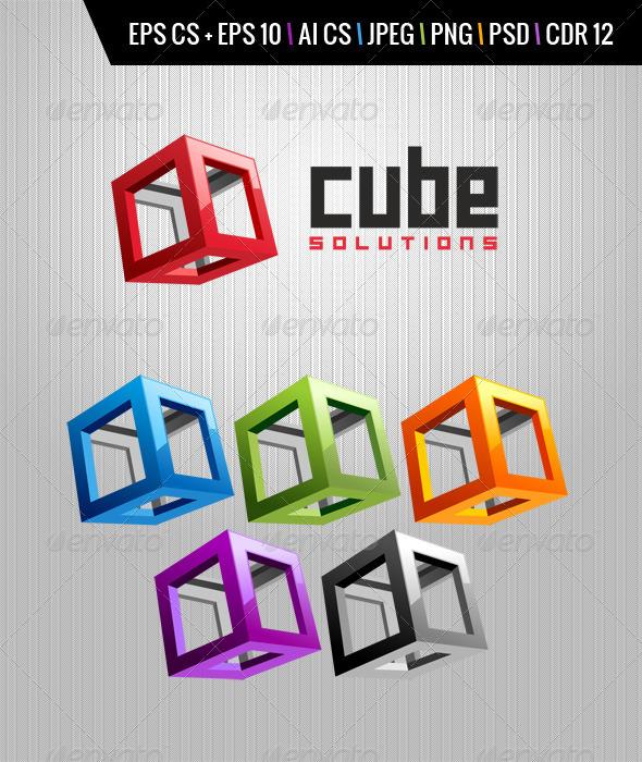 Cube Logo - Vector Abstract