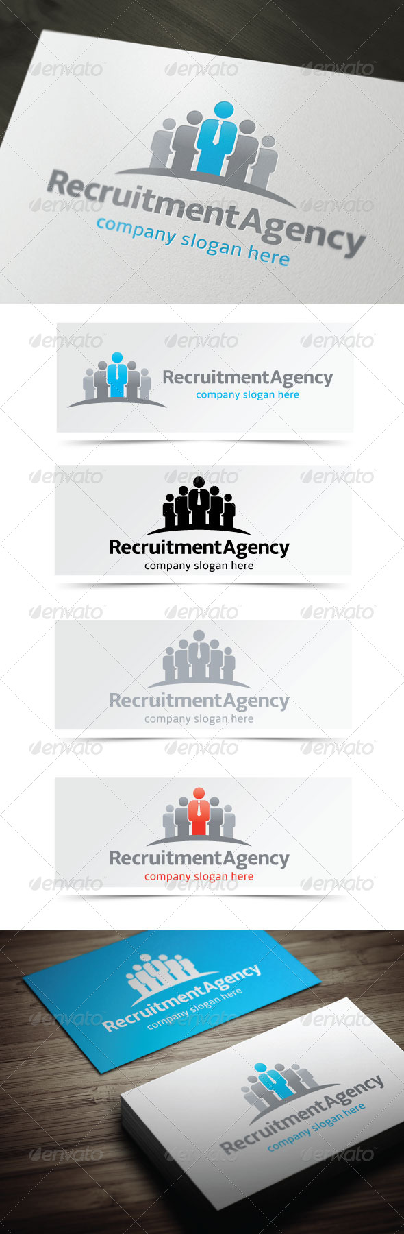 Recruitment Agency - Humans Logo Templates