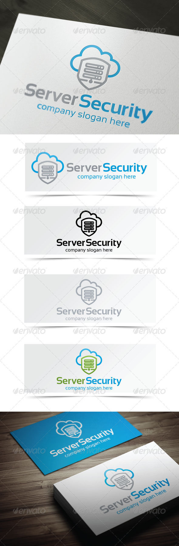 Server Security - Objects Logo Templates