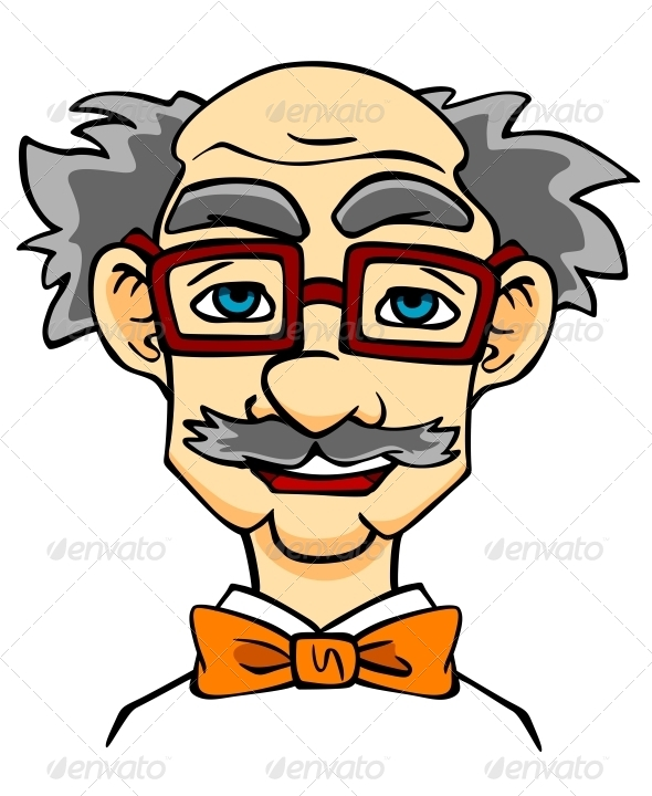 Elderly Man in Eyeglasses - People Characters