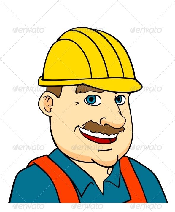Builder Man or Engineer - People Characters