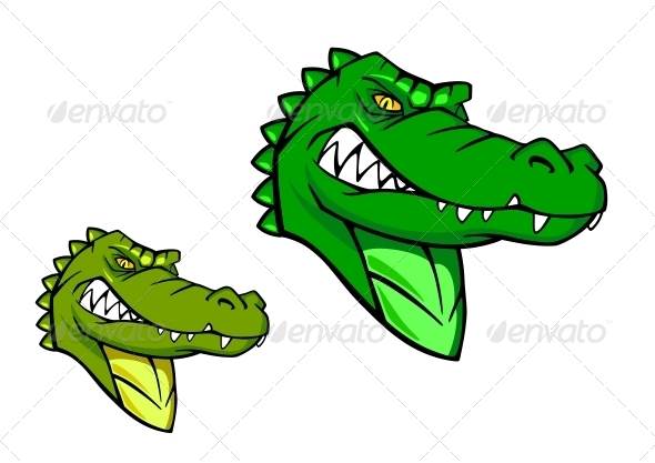 Green Wild Alligator - Animals Characters