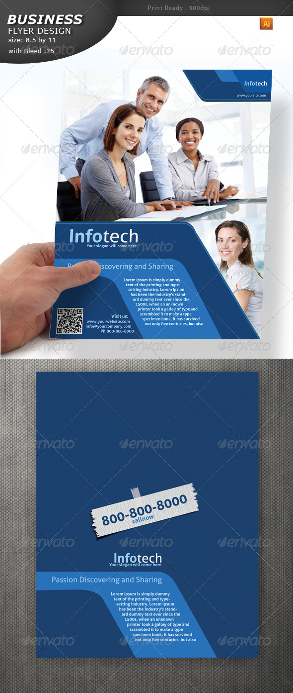Bsuiness Services Flyer - Flyers Print Templates