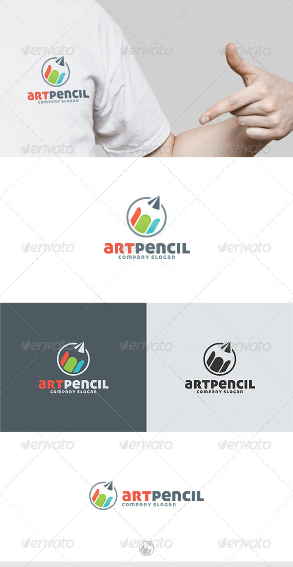 Art Pencil Logo - Vector Abstract