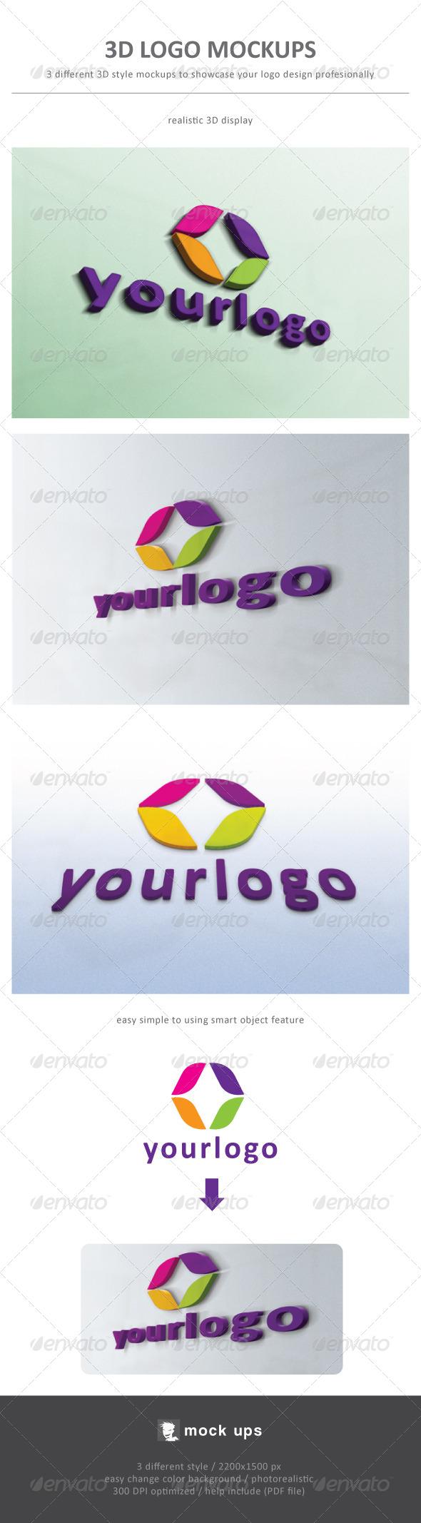 3D Logo Mockup - Logo Product Mock-Ups