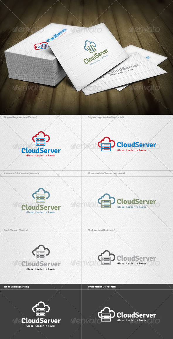 Cloud Server Logo - Vector Abstract