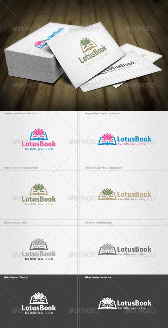 Lotus Book Logo - Symbols Logo Templates
