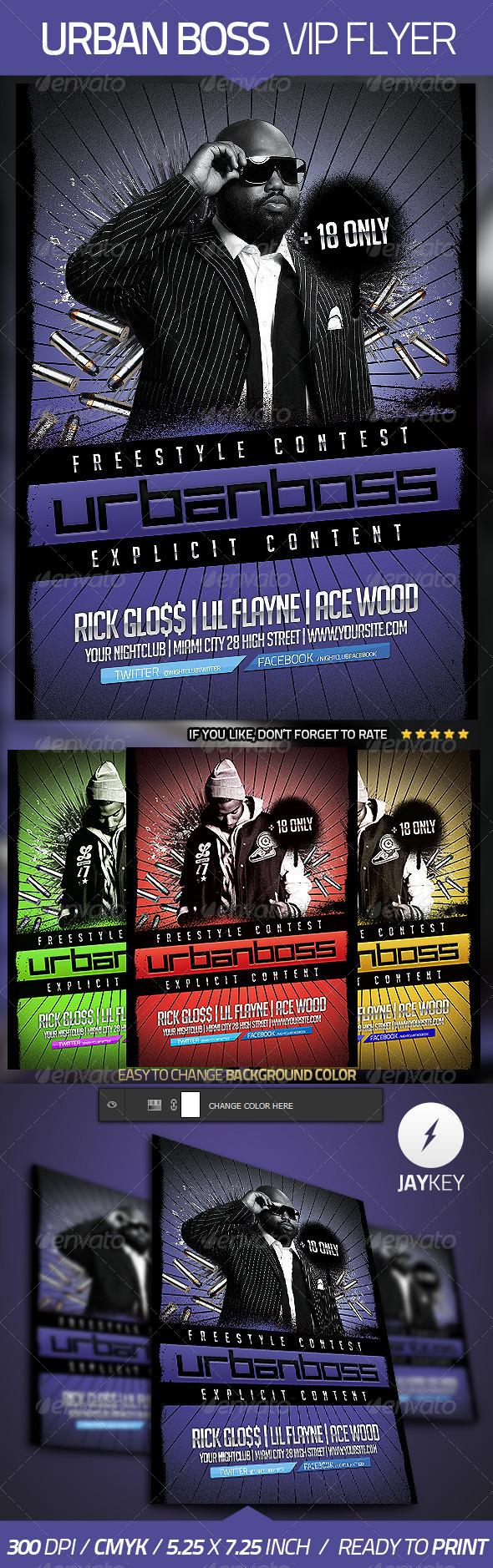 Urban Boss Flyer Template - Clubs & Parties Events