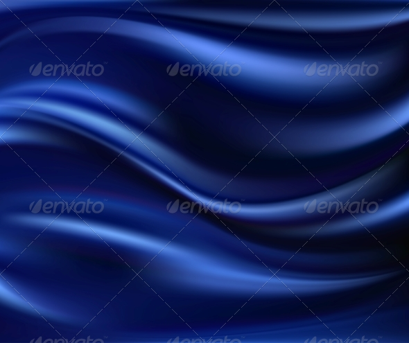 Abstract Vector Texture, Blue Silk - Fabric Textures