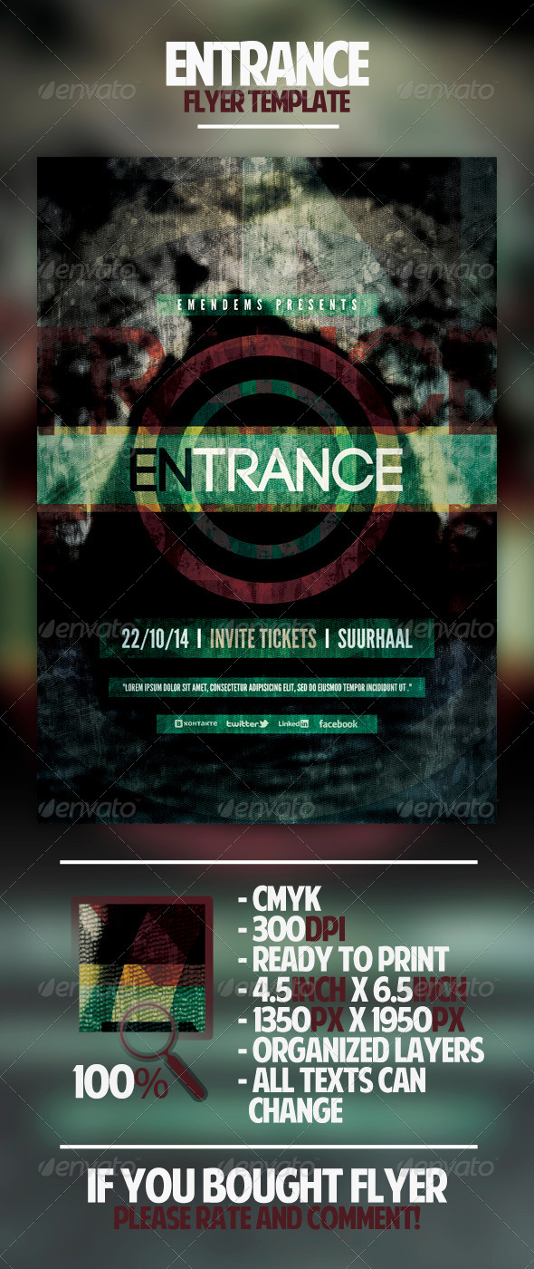Entrance Flyer Template - Miscellaneous Events