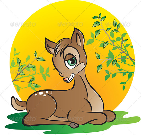 Young Deer - Animals Characters