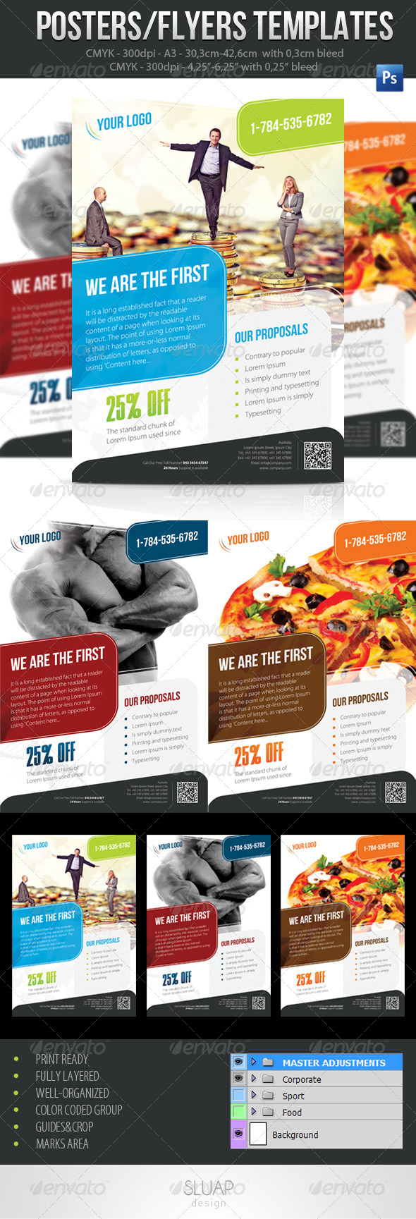 Poster Template A3 - Corporate Flyers