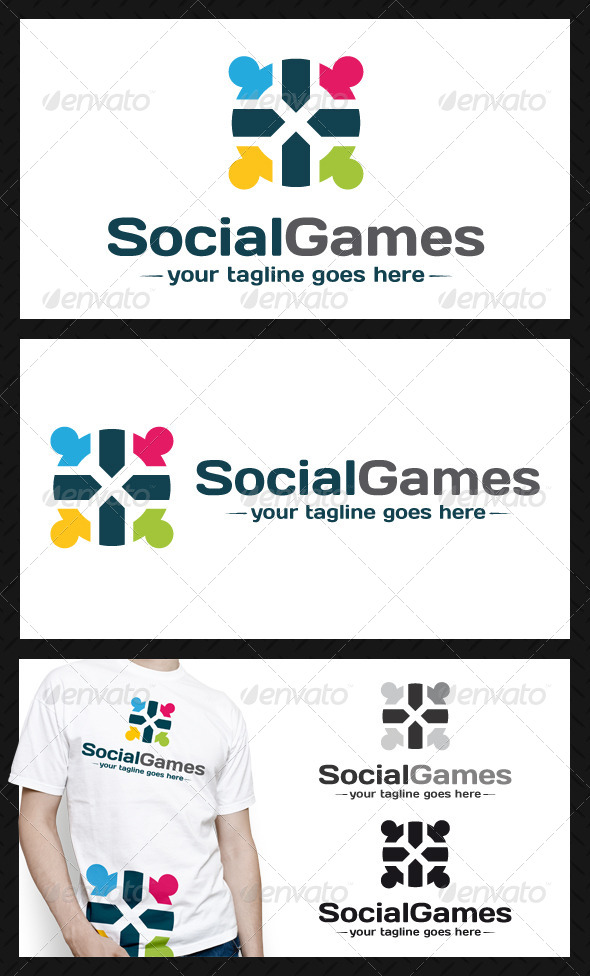 Social Games Logo Template - Humans Logo Templates