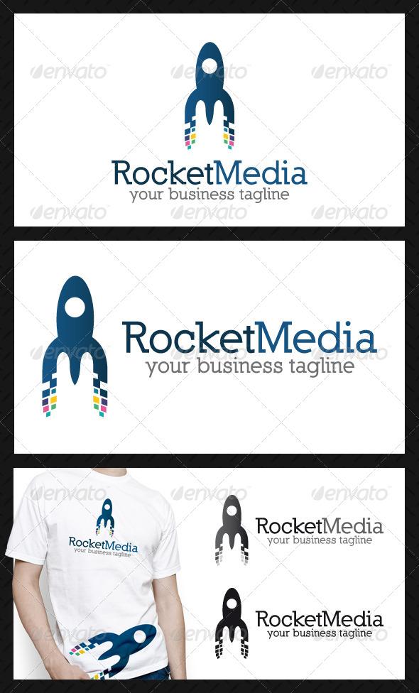 Rocket Media Letter M Logo Template - Letters Logo Templates
