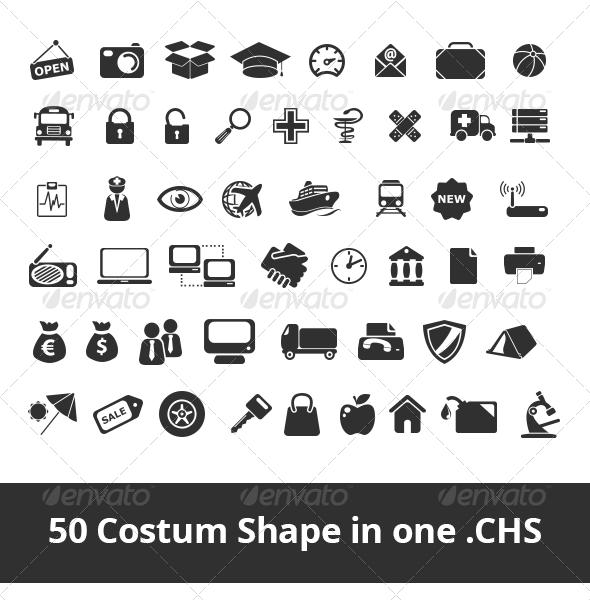 50 Costum Shape - Objects Shapes