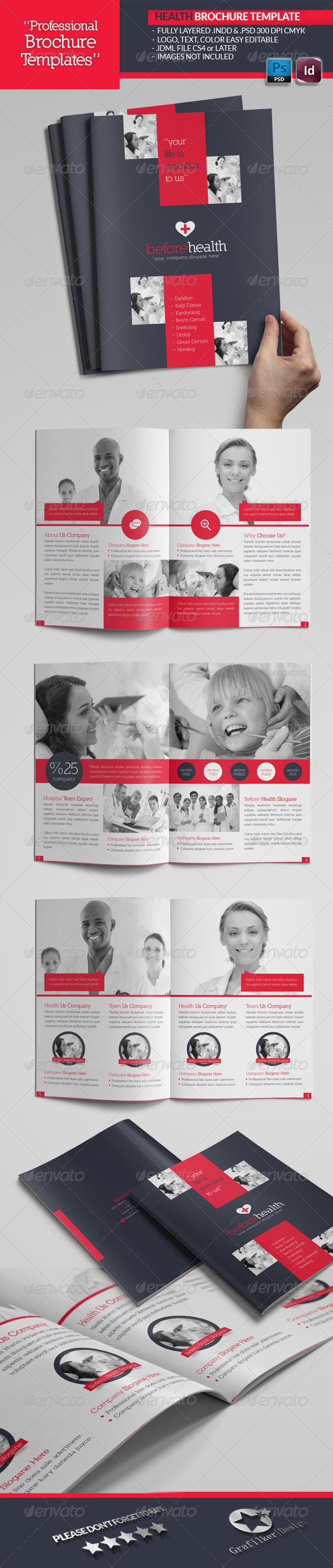 Health Brochure Template - Brochures Print Templates