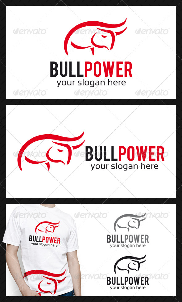 Bull Power Logo Template - Animals Logo Templates