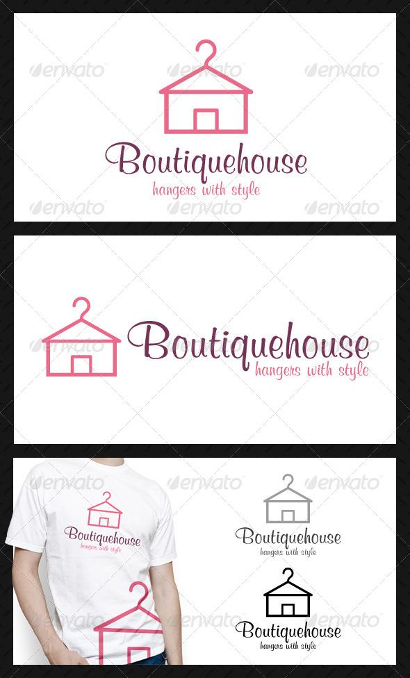 Boutique House Logo Template - Buildings Logo Templates