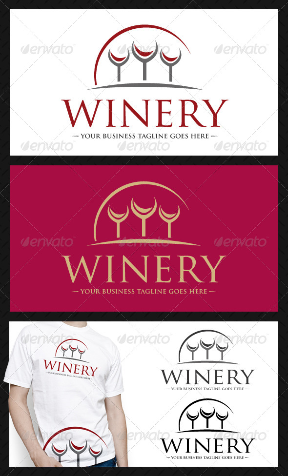 Winery Logo Template - Food Logo Templates