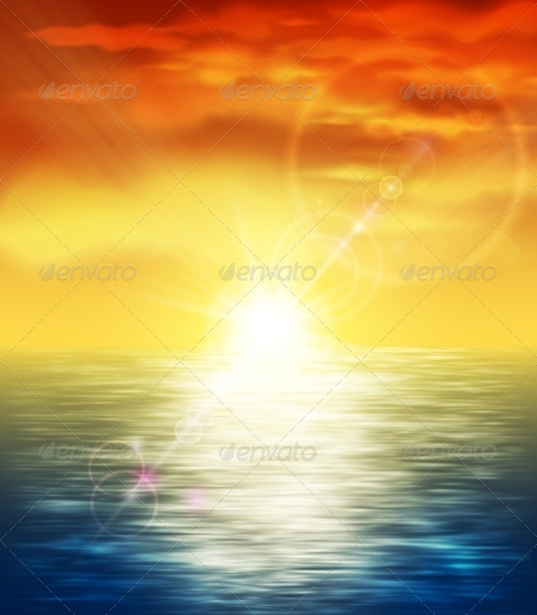 Sunset at Sea - Landscapes Nature