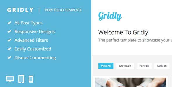 Gridly – Reponsive Portfolio Template