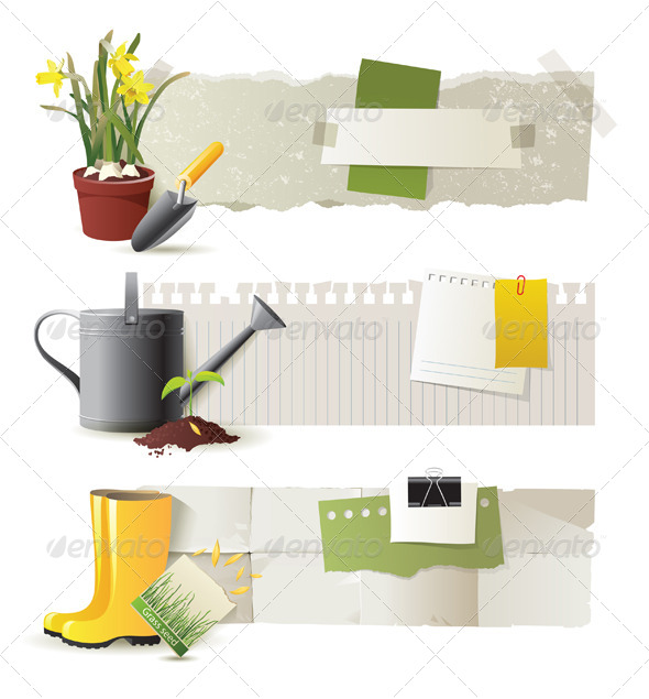 Gardening Banners - Flowers & Plants Nature