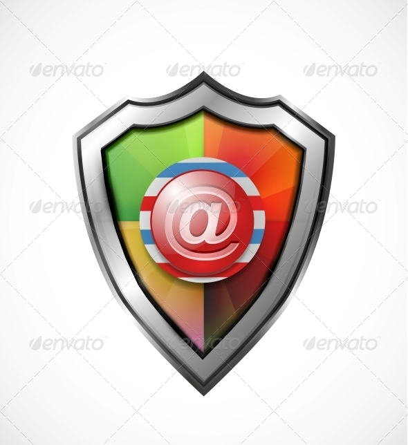 Email Protection Icon / Shield - Web Elements Vectors