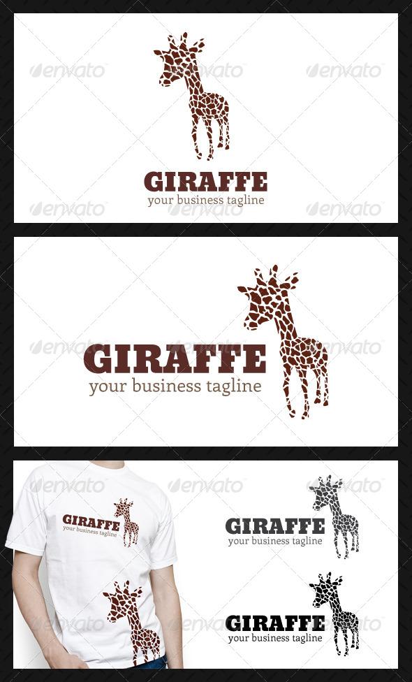Giraffe Studio Logo Template - Animals Logo Templates