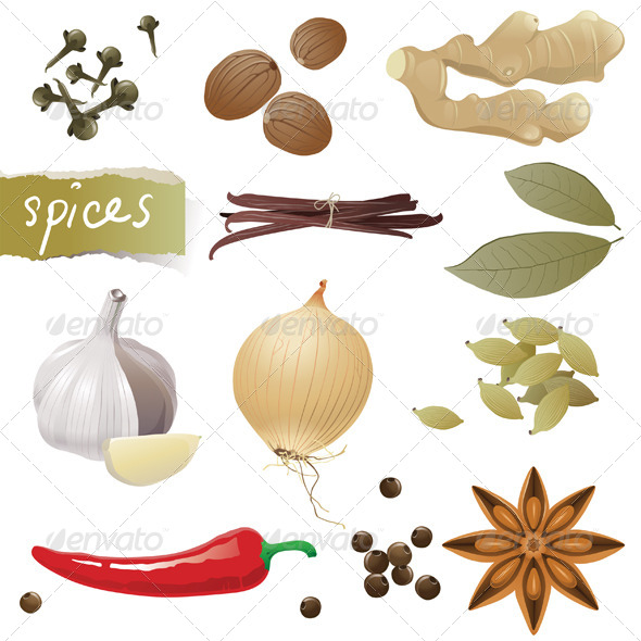 Spices - Food Objects