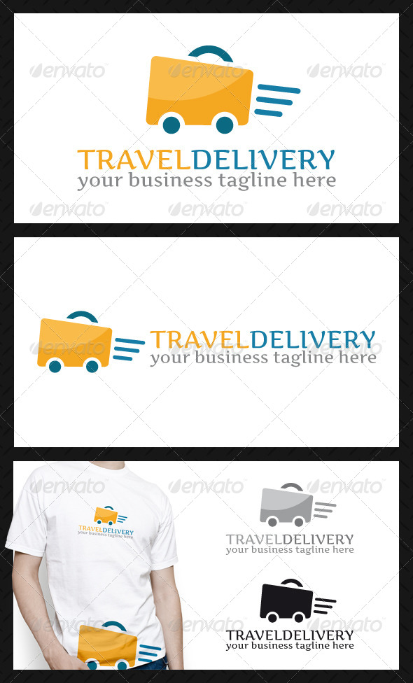 Travel Fast Delivery Logo Template - Objects Logo Templates