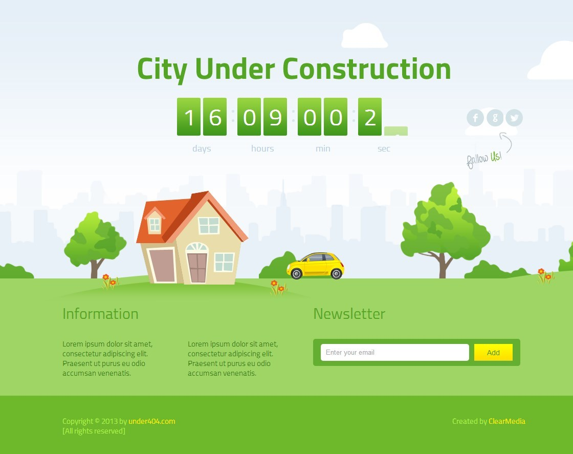 Animated City Under Construction By Clearmediapl Themeforest