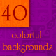 40 colorful backgrounds  - GraphicRiver Item for Sale
