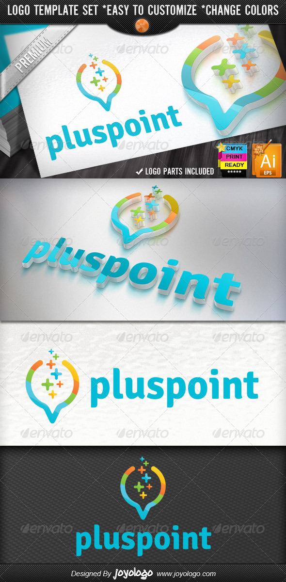 Digital Data Finder Apps Pixel Plus Point Logo - Objects Logo Templates