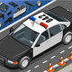Isometric Police Car in Front View - GraphicRiver Item for Sale