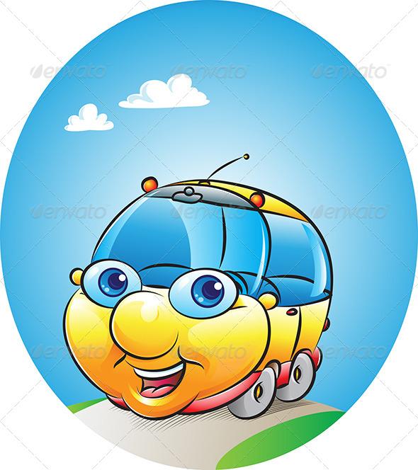 Car Mascot - Characters Vectors