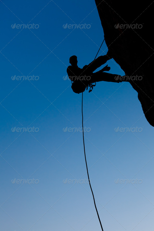 Climber on the rock - Stock Photo - Images