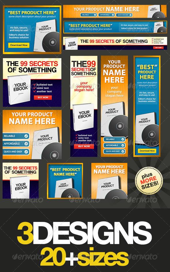 Product Box - Web Banner Design Bundle - Banners & Ads Web Elements