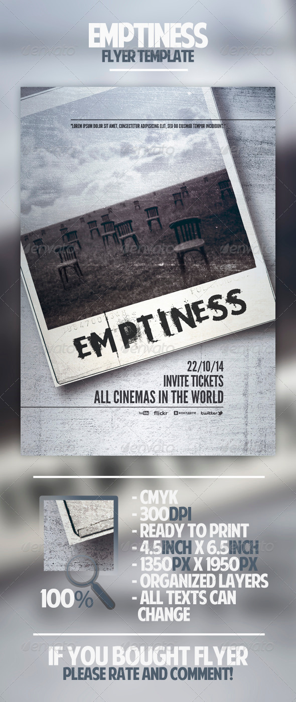 Emptiness Flyer Template - Miscellaneous Events
