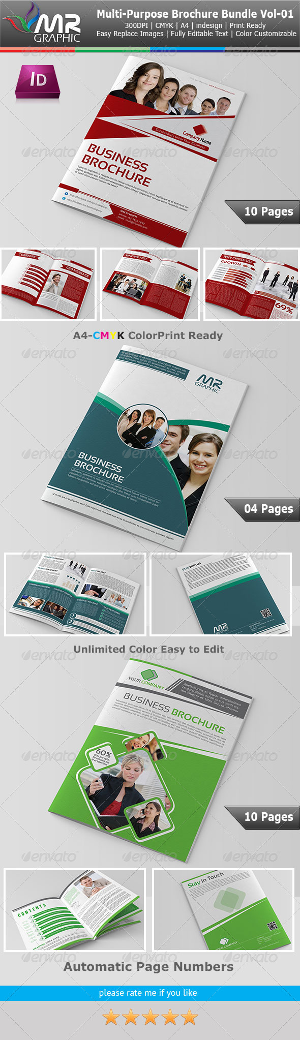 Multipurpose Business Borchure Bundle Vol-01 - Corporate Brochures