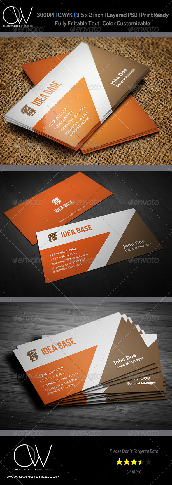 Corporate Business Card Vol.21 - Business Cards Print Templates